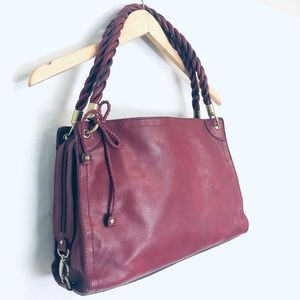 Relic Red Wine Shoulder bag Twisted Straps
